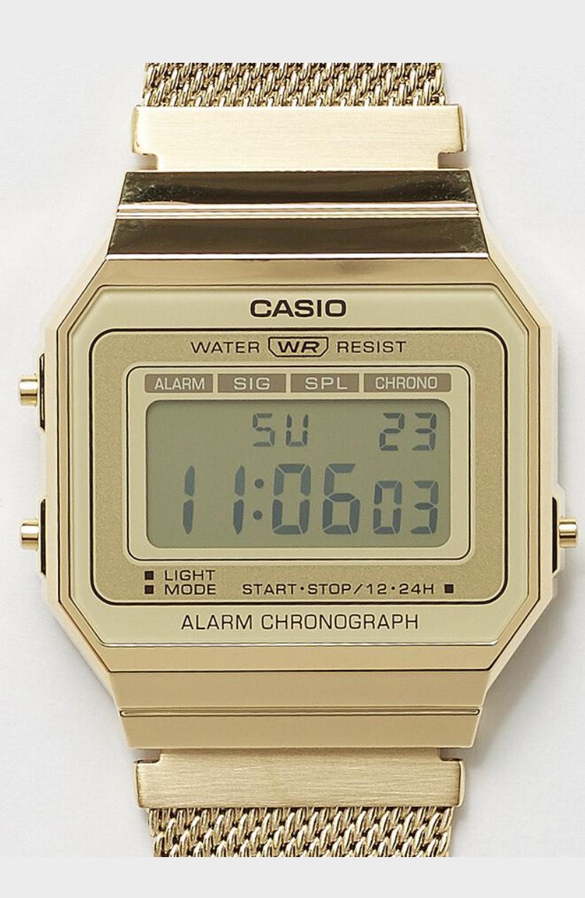 Montre digitale Casio Collection Retro Vintage A700WEMG-9AEF - coloris argent ou or