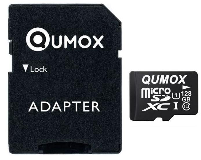 Carte microSDXC Qumox Classe 10 - 128 Go avec adaptateur