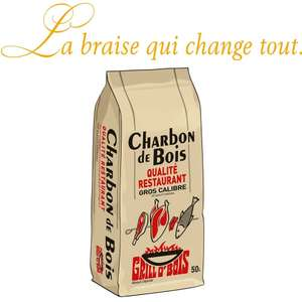 Charbon de bois Grill o bois 50L - Qualité restaurant