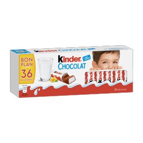 Boîte de 36 barres Kinder Chocolat