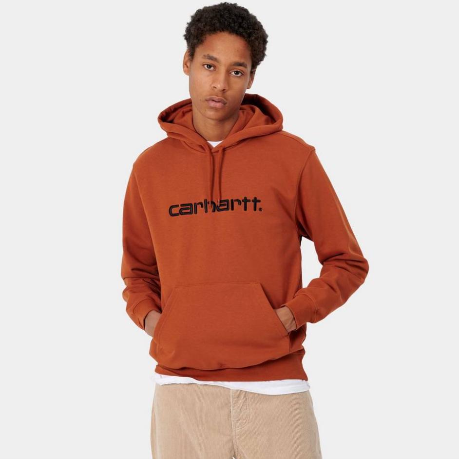 Sweatshirt Carhartt Hooded - Orange, Du S au XL