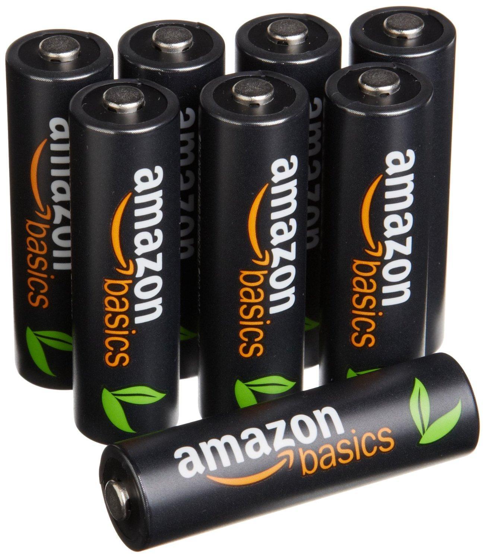 Lot de 8 piles rechargeables AmazonBasics - AA Ni-MH