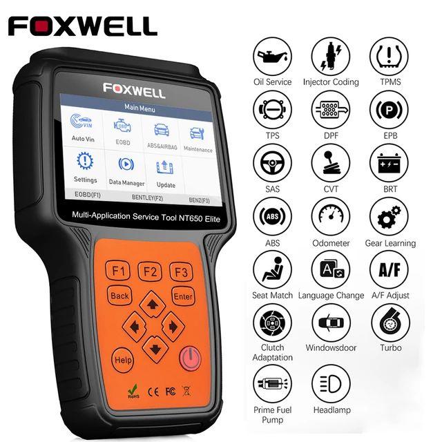 Appareil de diagnostic Auto Foxwell NT650 Elite (Entrepôt EU)
