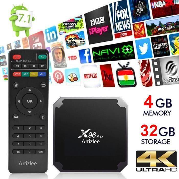 Box TV Artizlee X96 Max - Amlogic S905W, 4 Go RAM, 32 Go (Vendeur tiers)