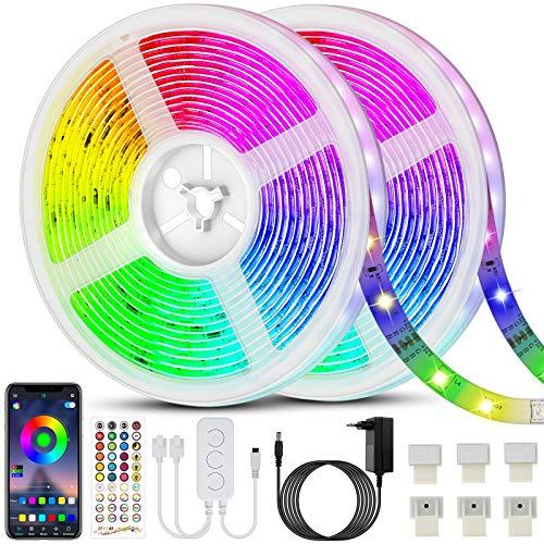 Ruban LED RGB - 20M (2 x 10m), 600 LEDs, synchro musicale, contrôle appli, télécommande (Vendeur Tiers)