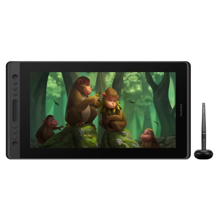 Tablette graphique Huion Kamvas Pro 16 - Ecran Full HD 15.6, Stylet Passif sans Batterie Idéal (Vendeur tiers)