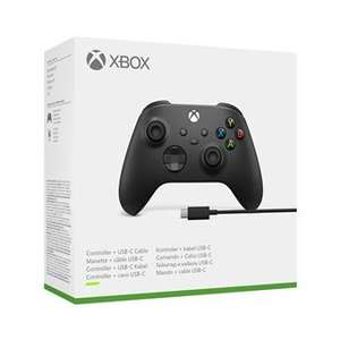 Manette Microsoft Xbox Series X - Carbon Black + Câble PC