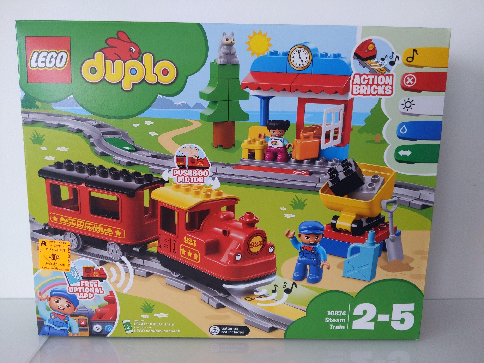 Jouet Lego Duplo (10874): Le train à vapeur - Fayet (02)