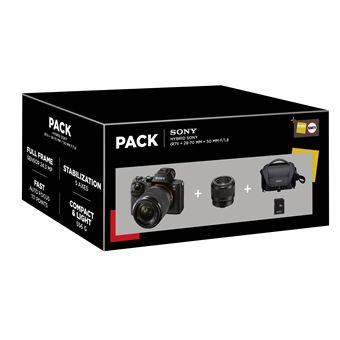 Pack Hybride Sony Alpha A7 II + 2 Objectifs + Carte SD + Objectif FE 85mm f/1.8 (+ Jusqu'à 216€ sur la cagnotte fidélité pour les Adhérents)