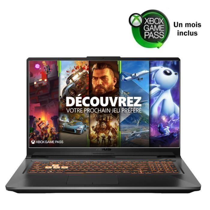 "PC Portable 17.3"" full HD Asus TUF706IU-H7012T (120 Hz, Ryzen 7-4800HS, GTX-1660 Ti 6 Go, 16 Go RAM, 512 Go SSD) + 1 mois de Xbox Game Pass"