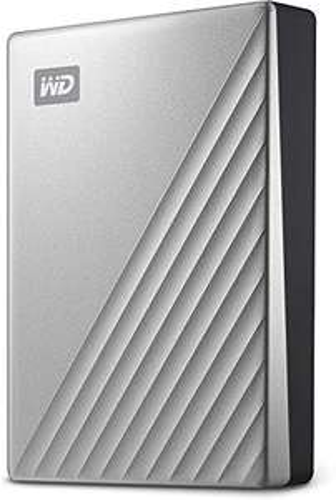 Disque dur externe Western Digital My Passport Ultra - 4To, Argent, USB-C