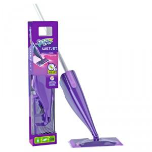 Kit Balai Swiffer WetJet + + 5 Lingettes + recharge liquide