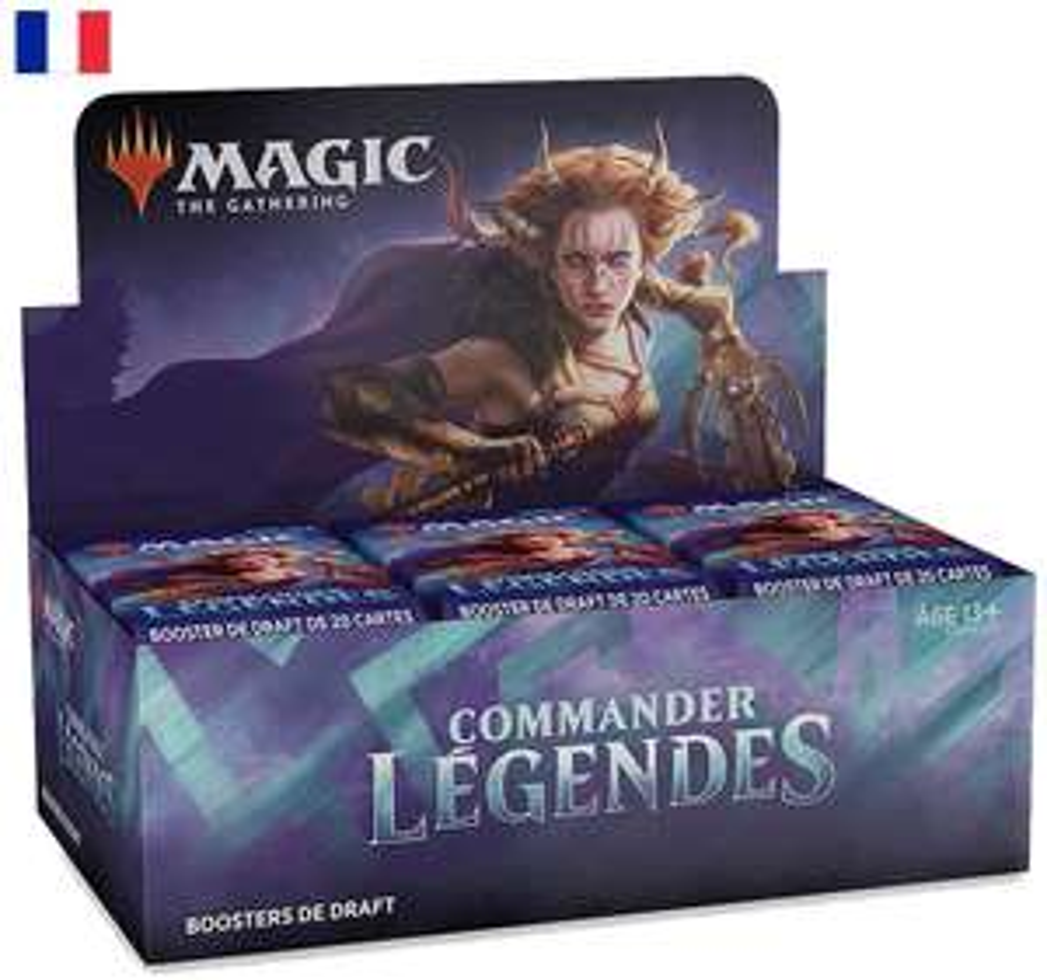 Boite de 24 Boosters de Draft Magic The Gathering Commander Légendes
