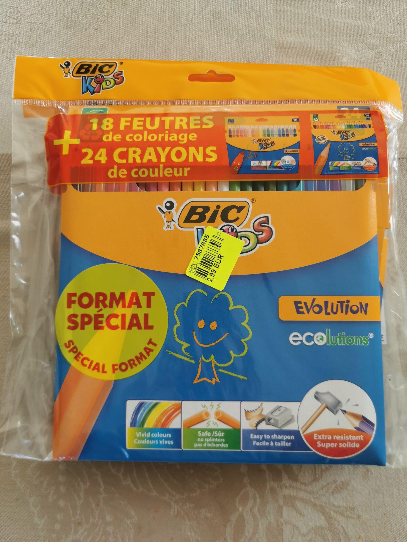 Pack coloriage BIC kids : 24 Crayons + 18 Feutres (Amberieu en Bugey 01)