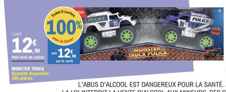 Jouet enfant Monster Truck Police (100% remboursé via carte de fidélité) - Pont Sainte Maxence (60)