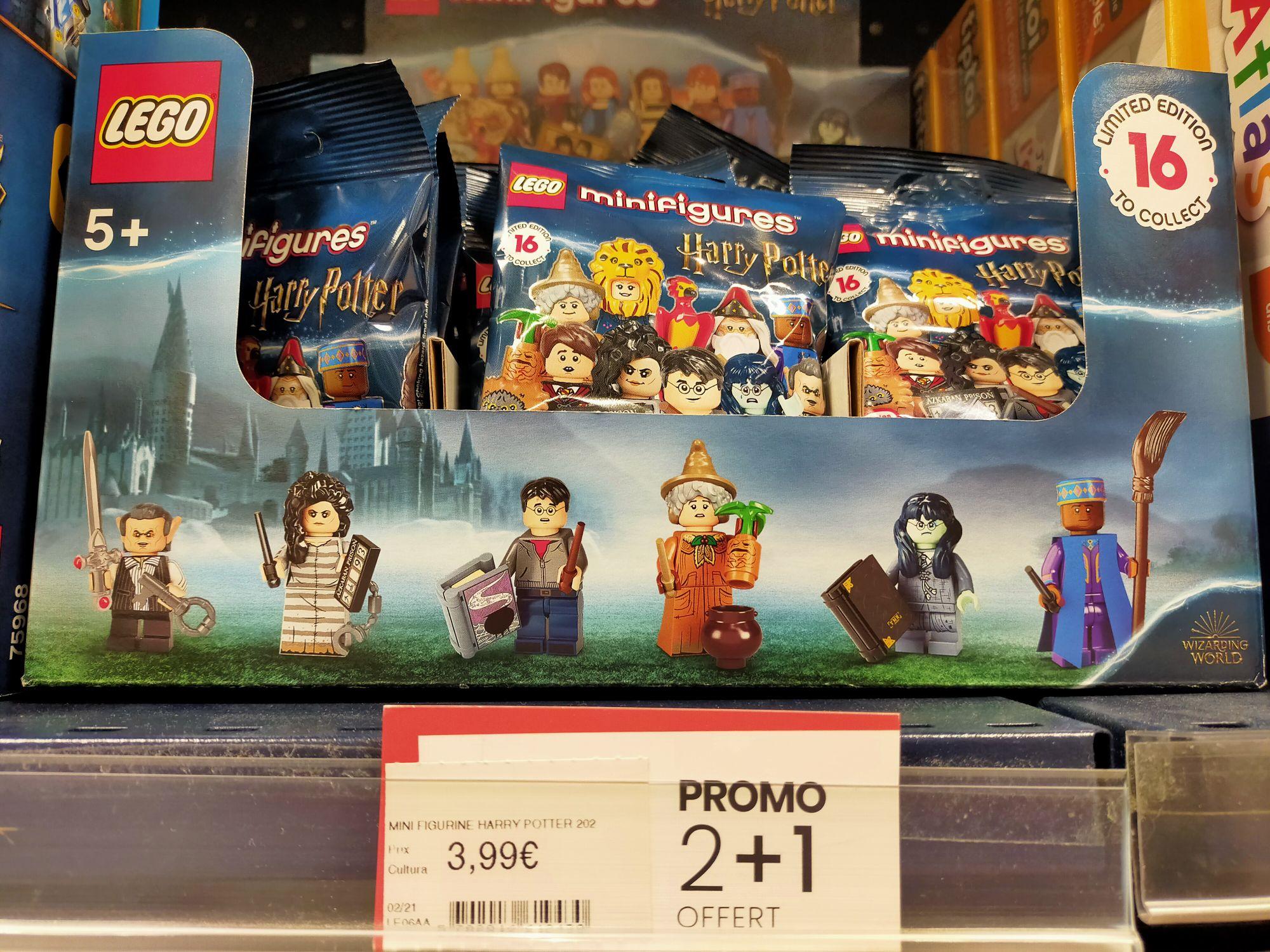 2 produits achetés dans la gamme minifigurines Lego Harry Potter = le troisième offert