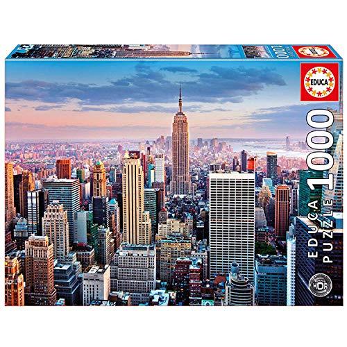 Sélection de puzzles 1000 pièces - Ex : Educa - New York HDR (14811)