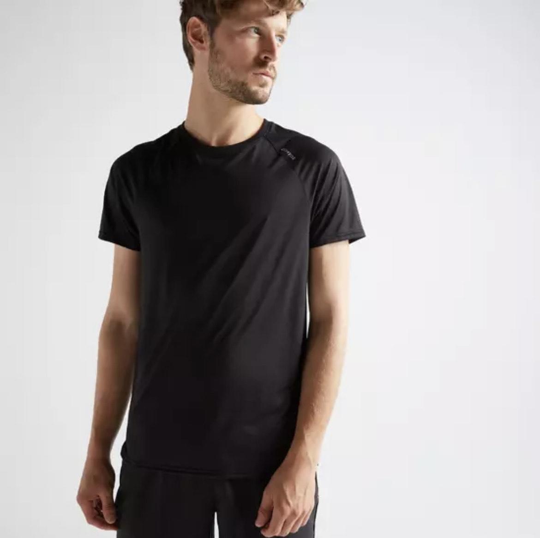 T-shirt cardio fitness training FTS 100 pour Homme - Taille L, Noir