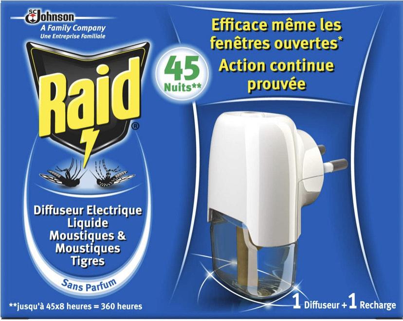 Diffuseur électrique Raid Liquide Anti-moustiques 45 Nuits 27 ml