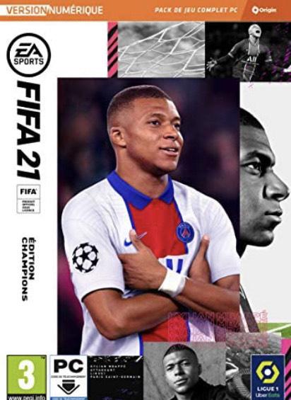 Sélection de jeux en promotion - Ex : Jeu Fifa 21 Champions sur PC (Dématérialisé, Origin)
