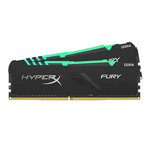 Kit Mémoire Ram DDR4 Kingston HyperX Fury RGB 32 Go (2x16 Go) - 3600MHz, CL18