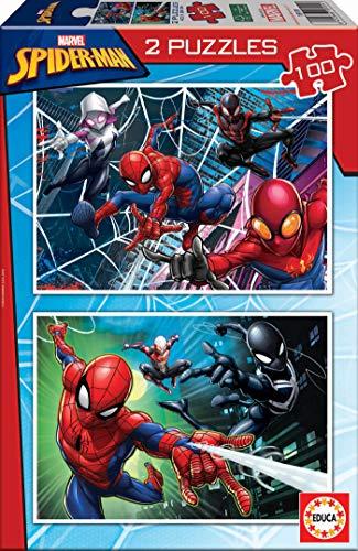 Lot de 2 Puzzles 100 pièces Educa (18101) - Spider-Man