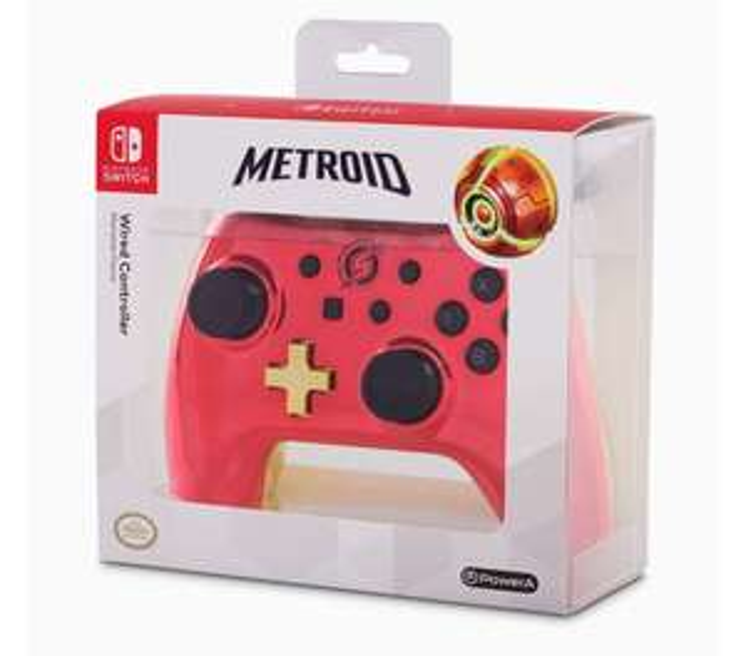 Manette filaire Power A Metroid (Chrome Samus) pour Nintendo Switch