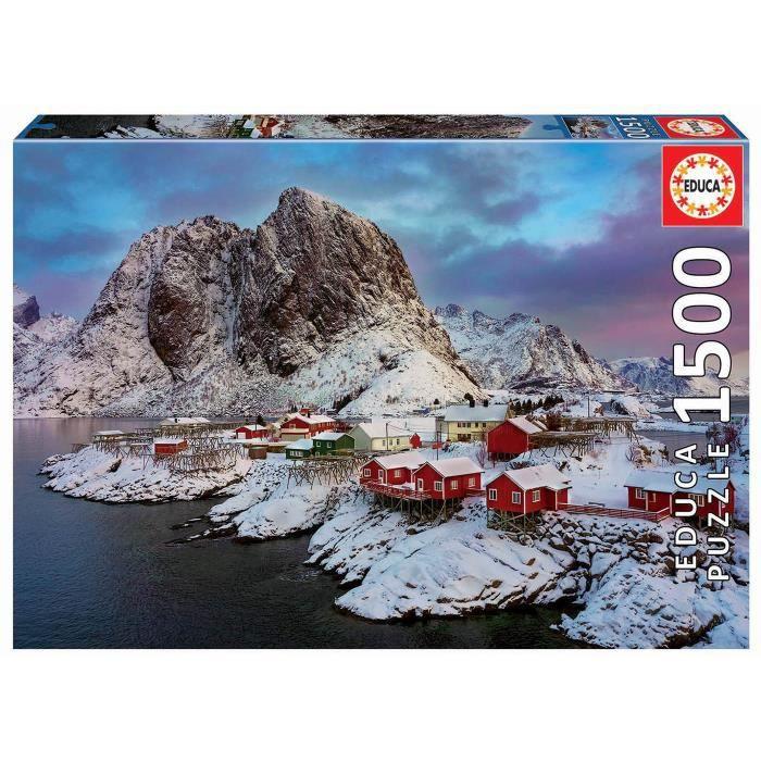 Puzzle Educa 1500 pièces Iles Lofoten Norvège