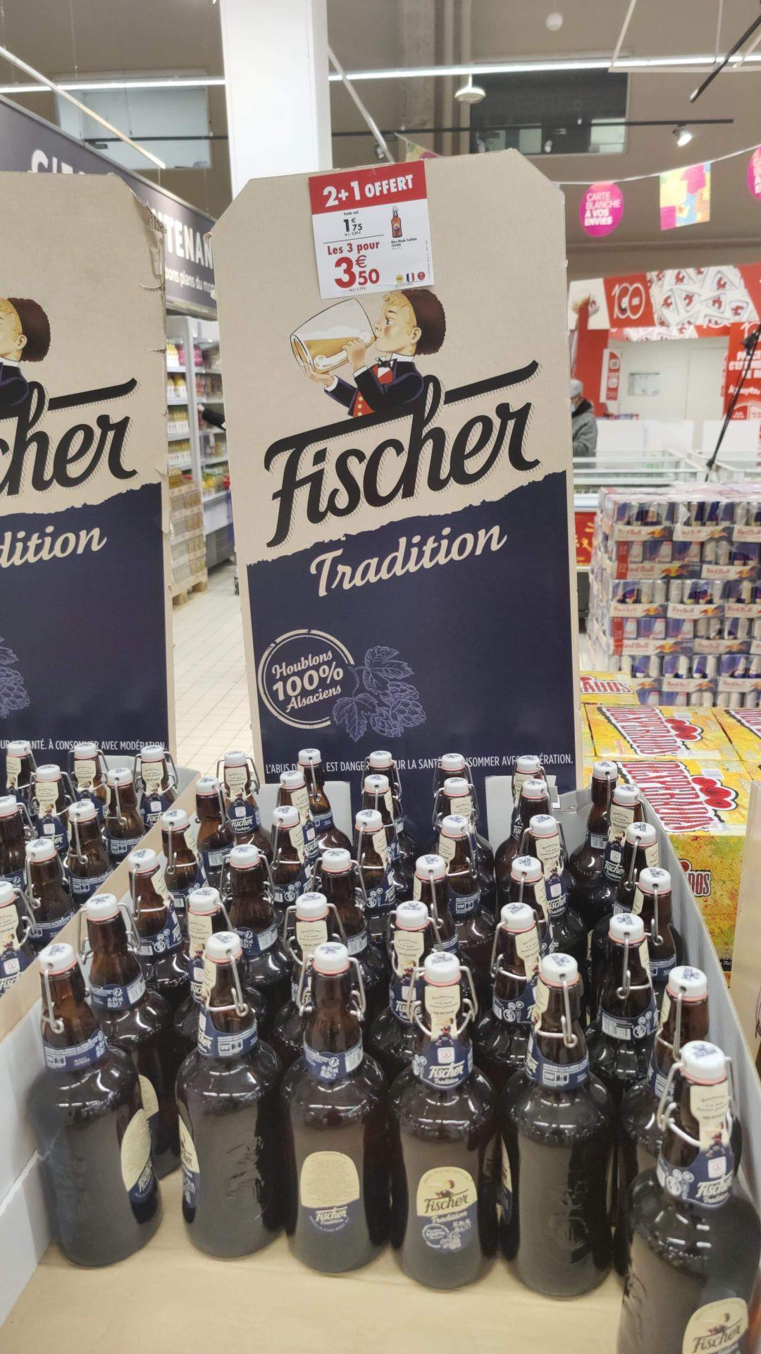 Lot de 3 bouteilles de Bière Fischer