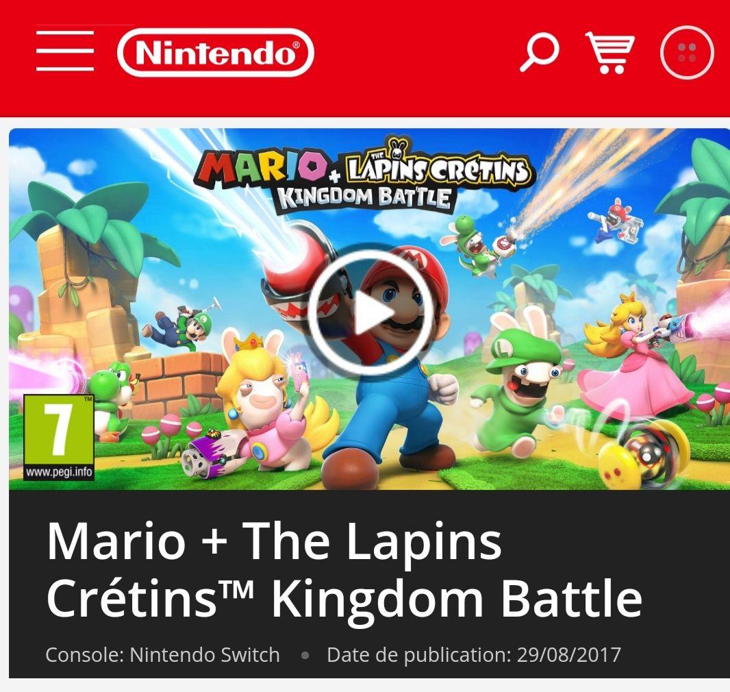 Jeux Mario + The Lapins Crétins Kingdom Battle sur Nintendo Switch (Dématérialisé)