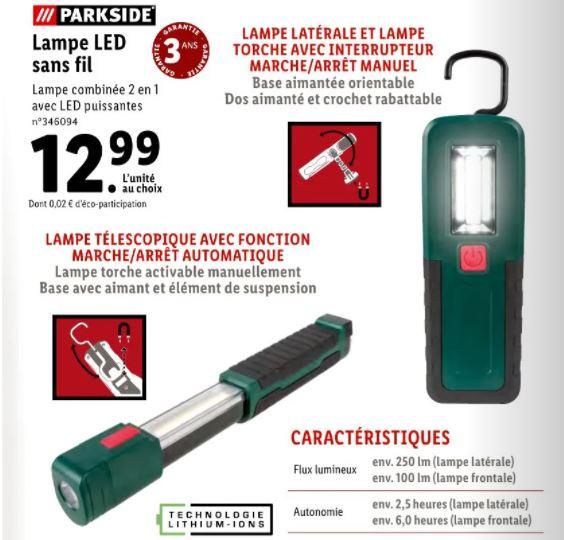 Lampe LED sans fil Parkside