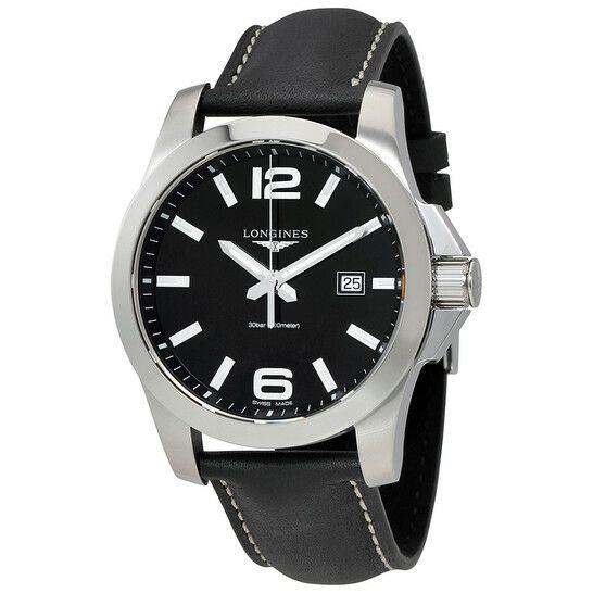 Montre quartz Longines Conquest L37604563 - 43mm, Noire ou blanche (Frais de douane & d'importation inclus)