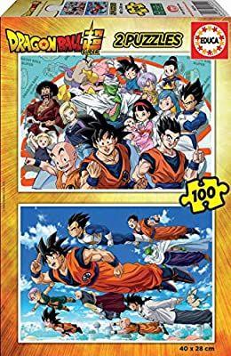2 Puzzles Educa Dragon Ball Super.pour Enfants - 100 pièces