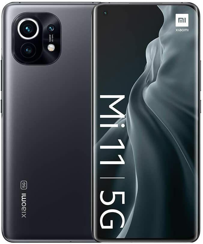 "Smartphone 6.81"" Xiaomi Mi 11 5G - WQHD, AMOLED, 120Hz, SnapDragon 888, 8 Go de RAM, 128 Go"