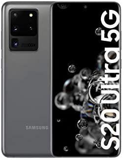 """Smartphone 6.9"""" Samsung Galaxy S20 Ultra 5G - WQHD+, 12 Go de RAM, 128 Go (Gris)"""