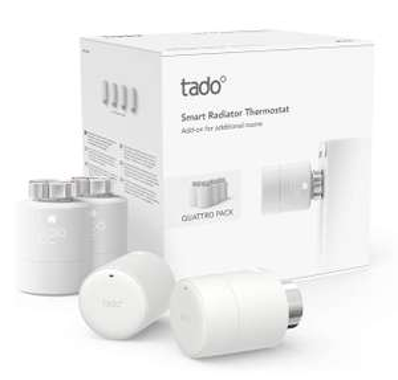 Pack de 4 têtes thermostatiques Tado Quattro