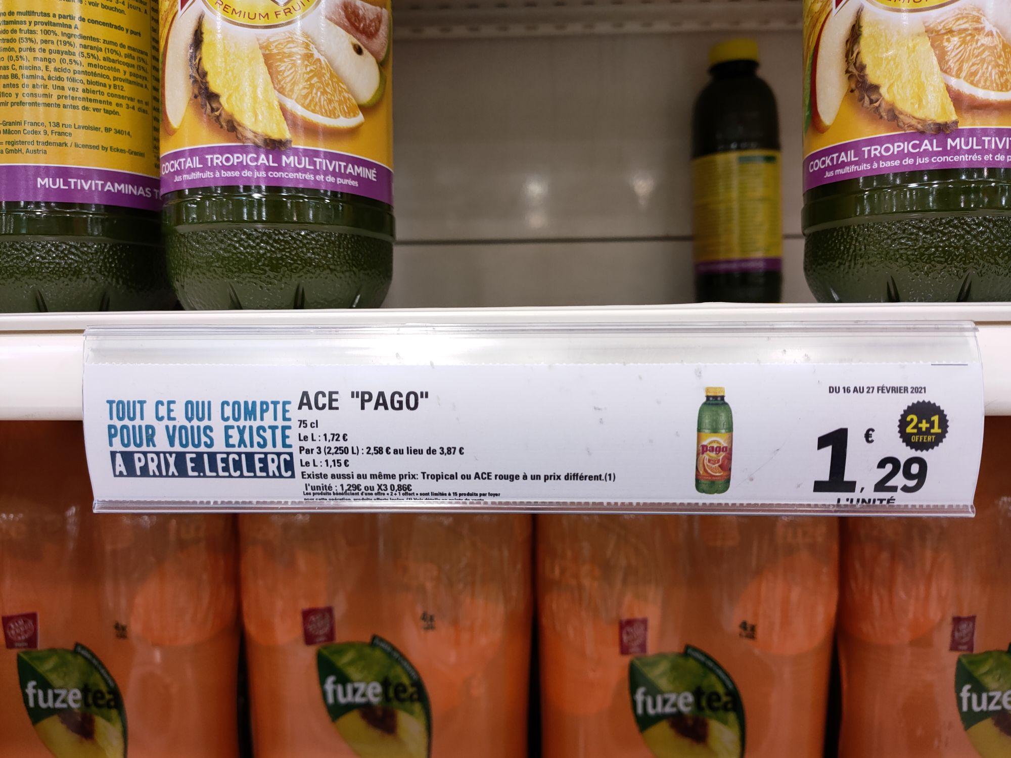 Lot de 3 bouteilles Pago Ace (3 x 75 cl) - Vienne (38)