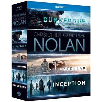 Coffret Blu-Ray 3 films de Christopher Nolan - Dunkerque + Inception + Interstellar