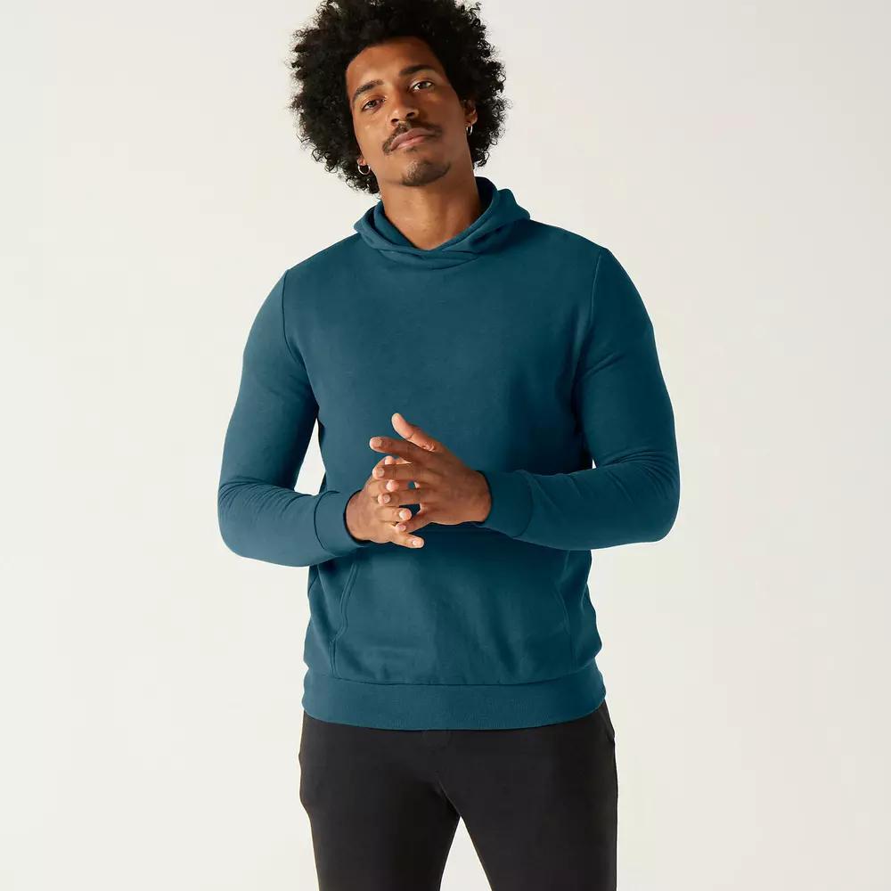 Sweat-shirt à capuche Domyos Fitness Kangourou - bleu turquoise (du S au XXL)