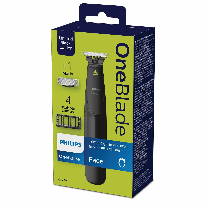 Tondeuse visage Philips OneBlade Black Edition QP2620/20 - avec 1 lame + 4 sabots (via 31.47€ sur la carte de fidélité)
