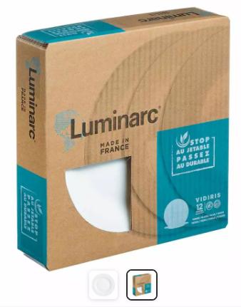 [Clients VIP] 12 assiettes plates Luminarc (Blanc)