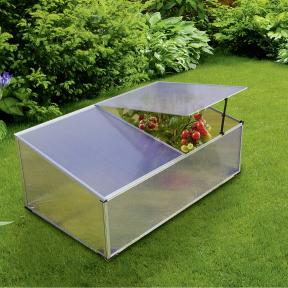 Mini-Serre de jardin Gardenline - polycarbonate/aluminium - 100x60x40cm