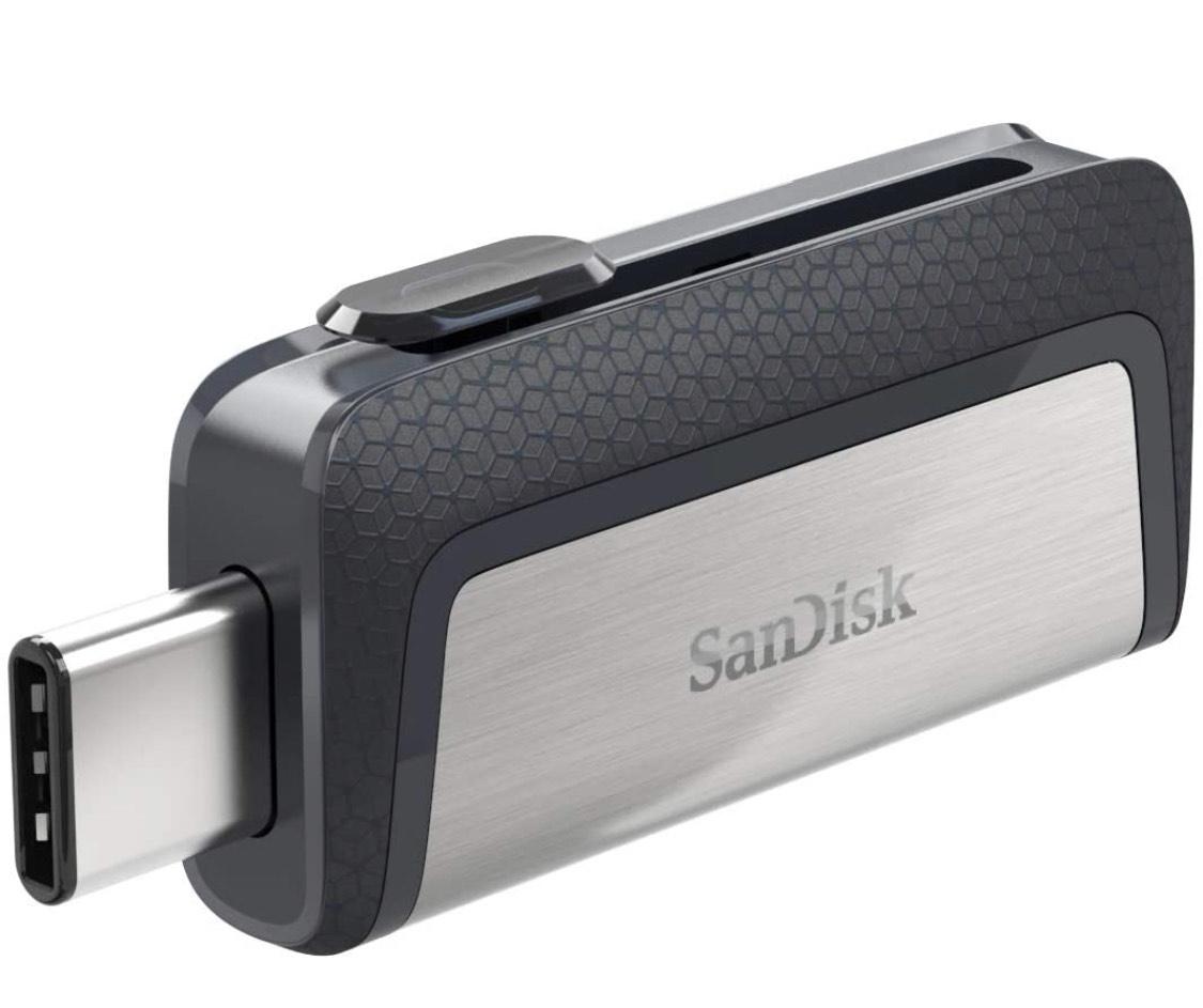 Clé USB 3.1 Type-C SanDisk Ultra Dual Drive avec Double Connectique - 256 Go