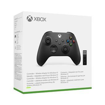 Manette Microsoft Xbox Series + Adaptateur sans-fil Windows 10 - Noir