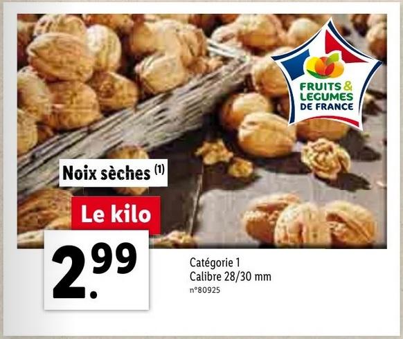 Noix Sèches (Origine France) - 1Kg