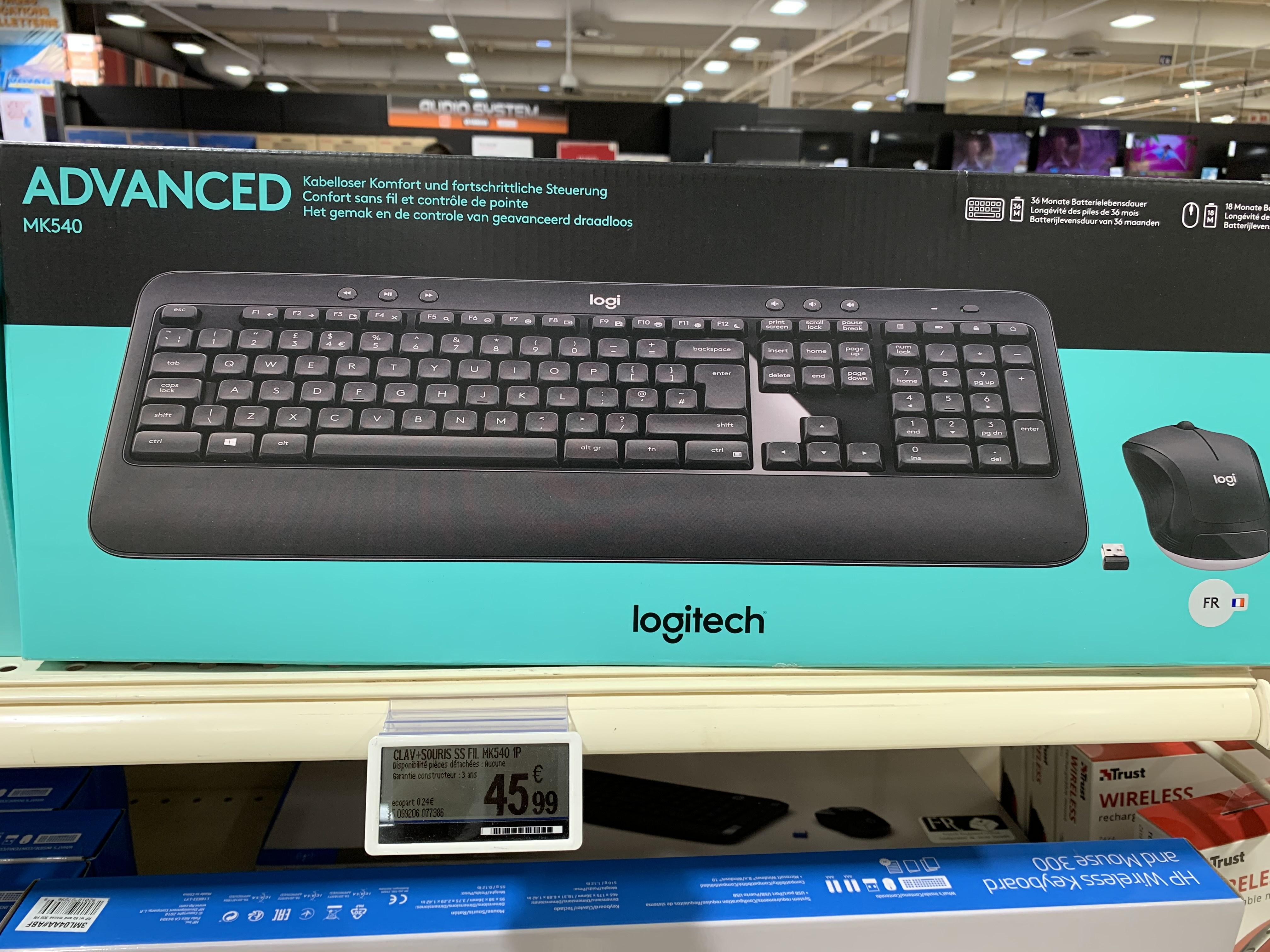 Pack clavier + souris sans-fil Logitech Advanced MK540 - Saint-Orens-de-Gameville (31)
