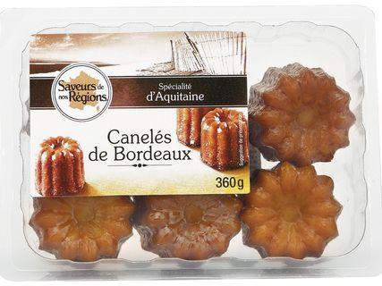 """Boîte de 6 canelés de Bordeaux """"Saveur de nos régions"""" (6x60g)"""