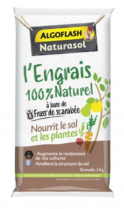 Engrais Algoflash Naturasol 100% naturel à base de frass de scarabée - 5 kg (100% remboursé)