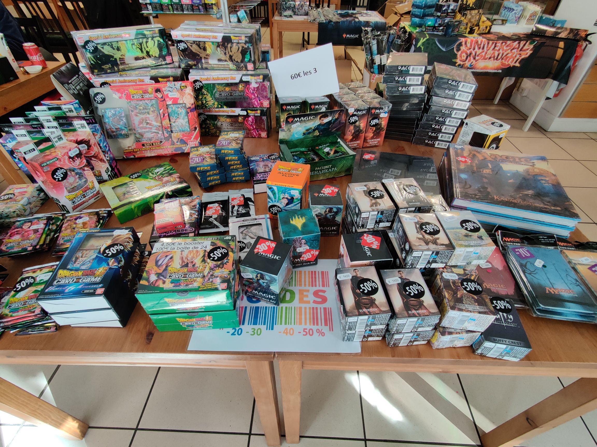 50% de réduction sur une sélection d'articles (cartes Magic, Dragon Ball Z, livres & deck boxes) - Carta'jeu Lyon (69)