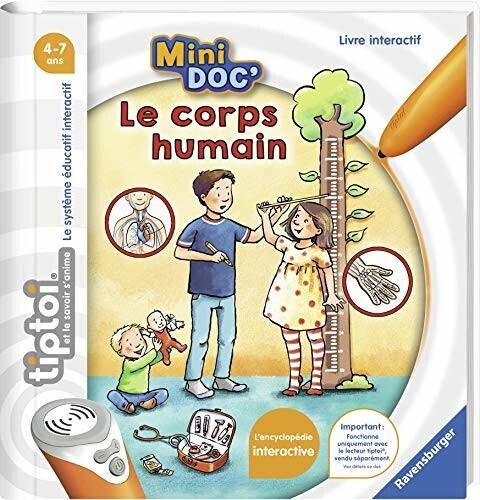 Livre interactif Ravensburger tiptoi Mini Doc' Le Corps Humain - sans stylo